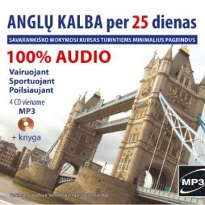 Anglų kalba per 25 dienas. Audio kursas (MP3+knyga)